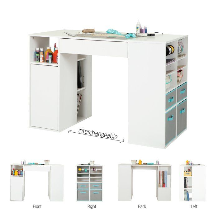 Crea Craft Table Craft Tables With Storage Sewing Room Storage Solutions Sewing Room Storage