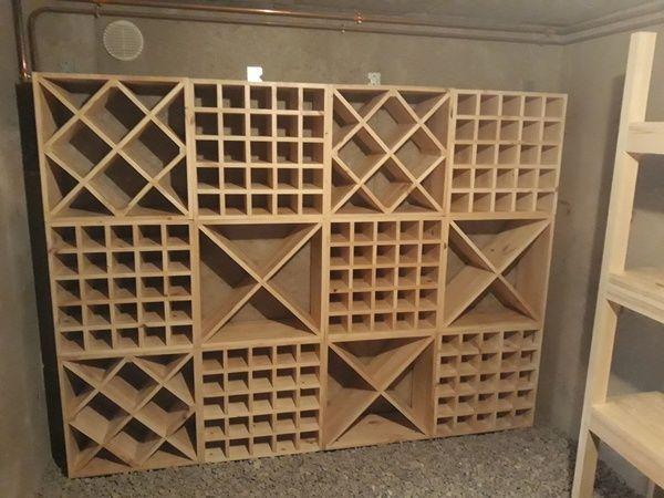 Cave A Vin Par Hubellier Kitchencabinetsorganization Diy Wine Cellar Wine Storage Wall Home Wine Cellars