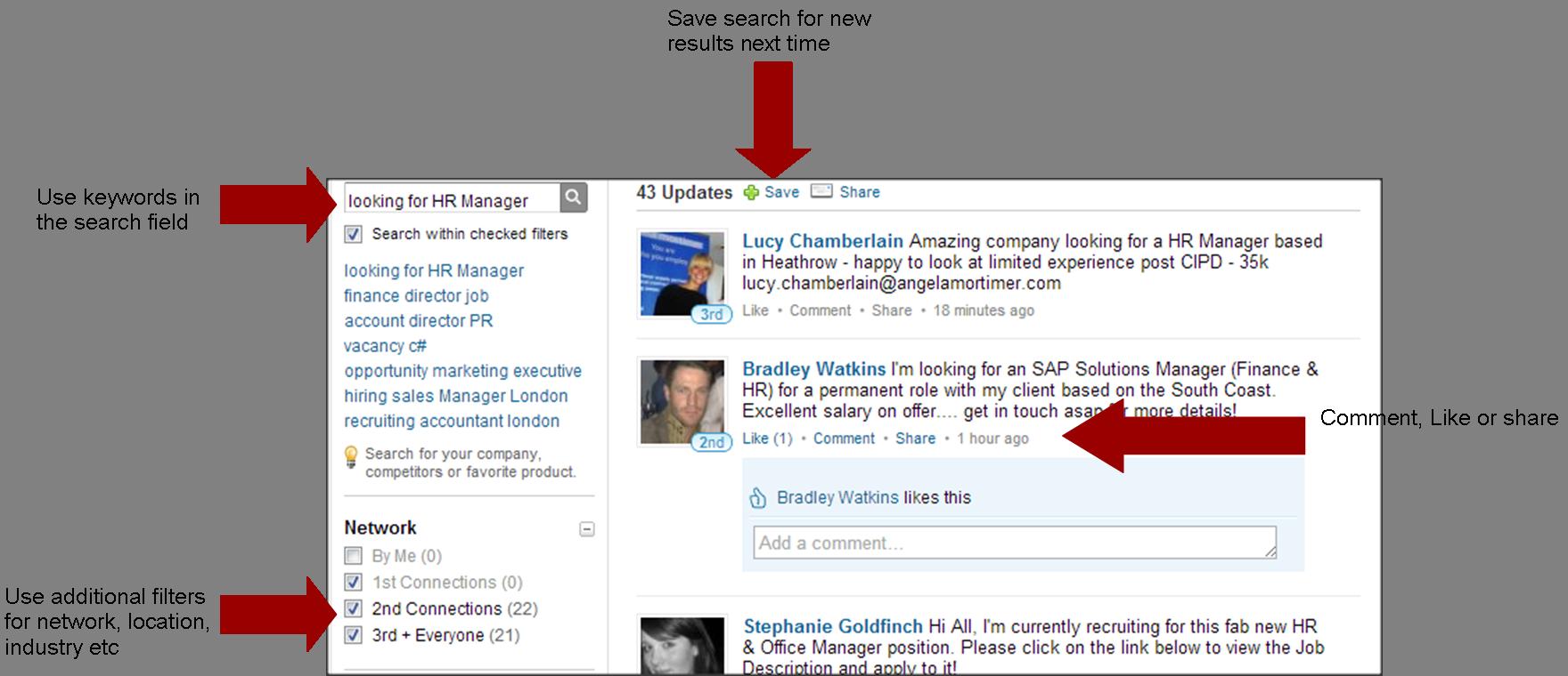 Using Linkedin signal for job seekers Job seeker, Hr