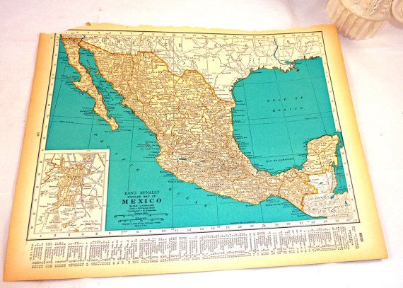 vintage 1937 maps of mexico western mexico baja california wow have things changed