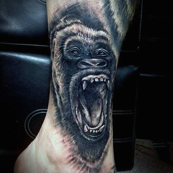 bfc2db5e1 100 Gorilla Tattoo Designs For Men - Great Ape Ideas | Hand tattoo ...