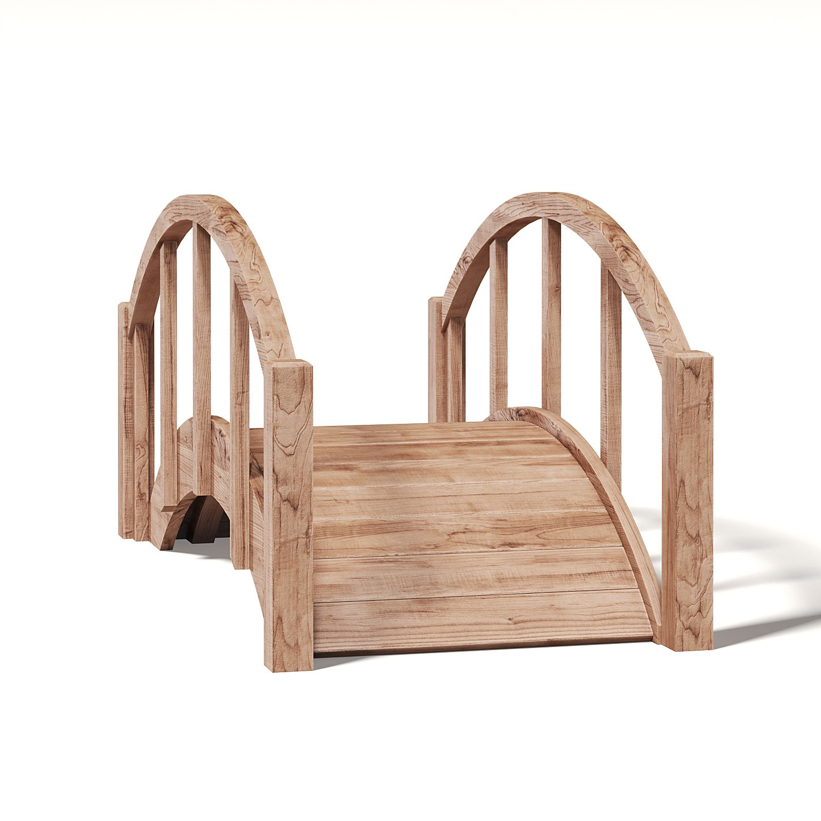Small Wooden Bridge 3d Model Wooden Bridge Wooden 3d Model