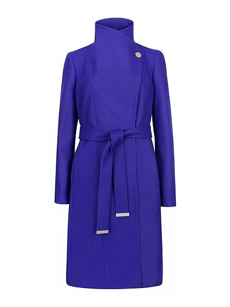64e99a0cfd17 Ted Baker Lorili Long Wrap Coat Blue - House of Fraser