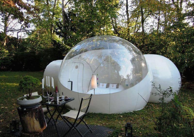 Outdoor Inflatable Bubble Tent With 2 Tunnels Family Backyard Camping Stargazing Outdoor Inflatables Bubble Tent