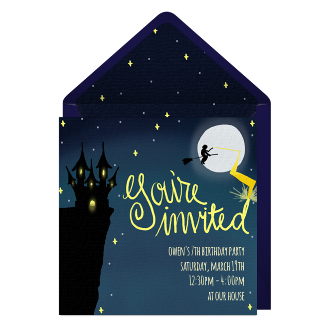 Free Wizard Invitations Harry potter