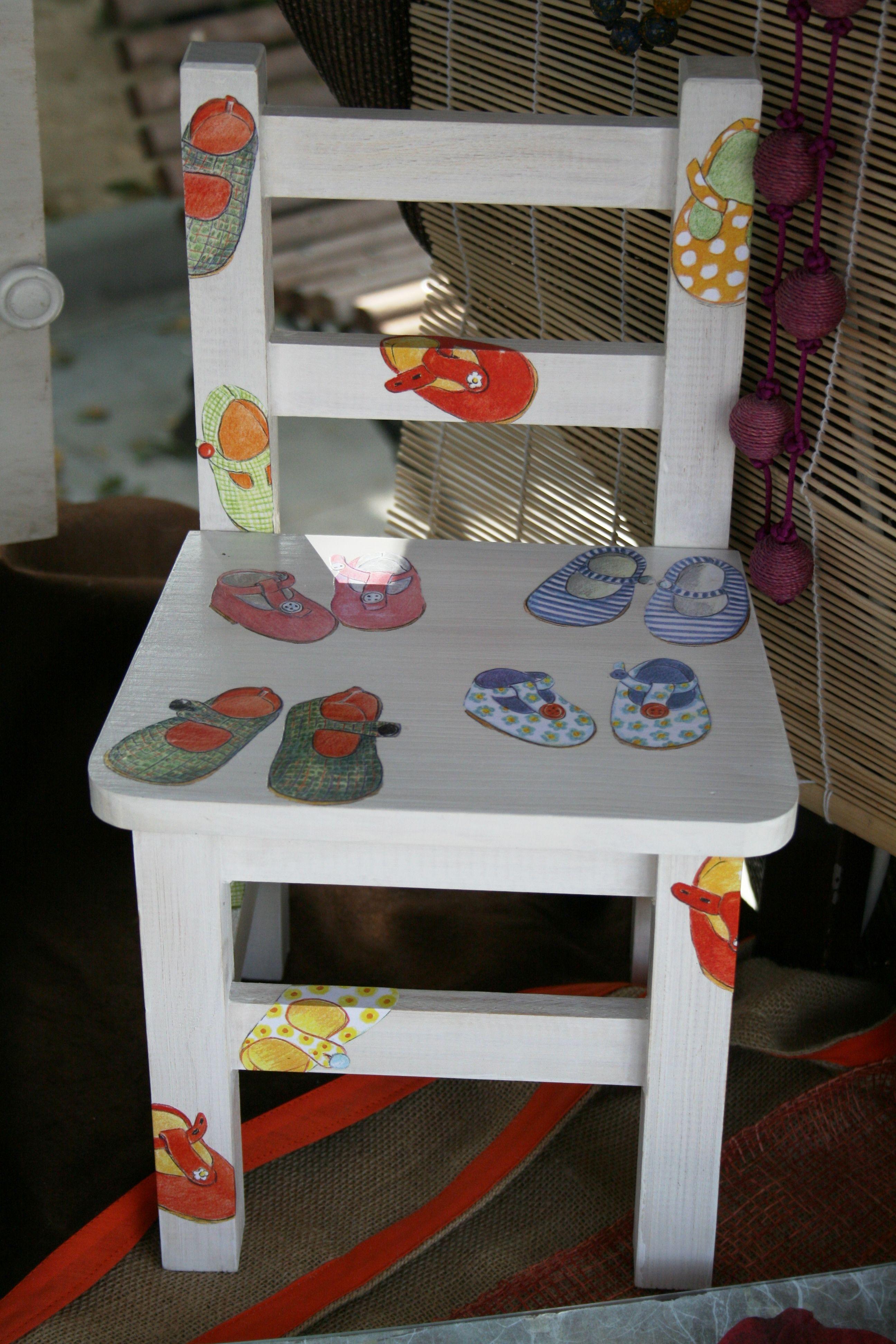 Silla infantil pintura decorativa pint pinterest - Sillas infantiles ...