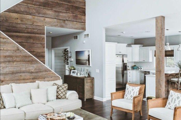 Rustikale Holzwände zu Hause - 30 Beispiele für ...