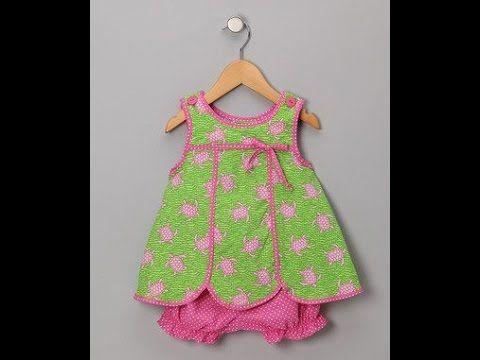 7b95ae39ab773 Beautiful & simple kids summer baby girls frocks designs | Cutting &  Stitching - YouTube