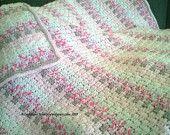 Handmade Baby Blanket ~ Pink & Elephant Gray ~ Crochet Stroller Blanket