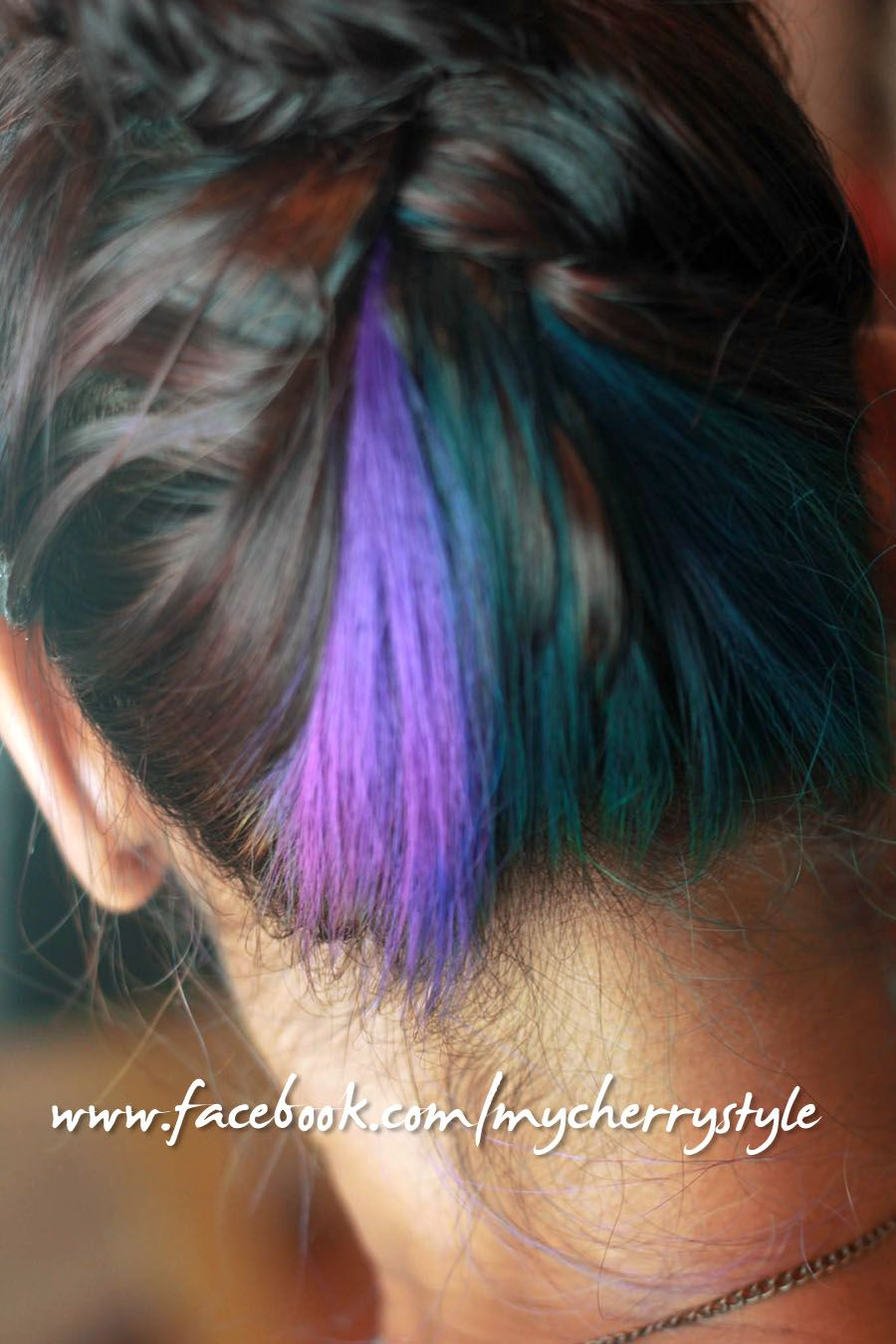 Peacock Inspired Hair Colour So Glad It Worked Teal Purple