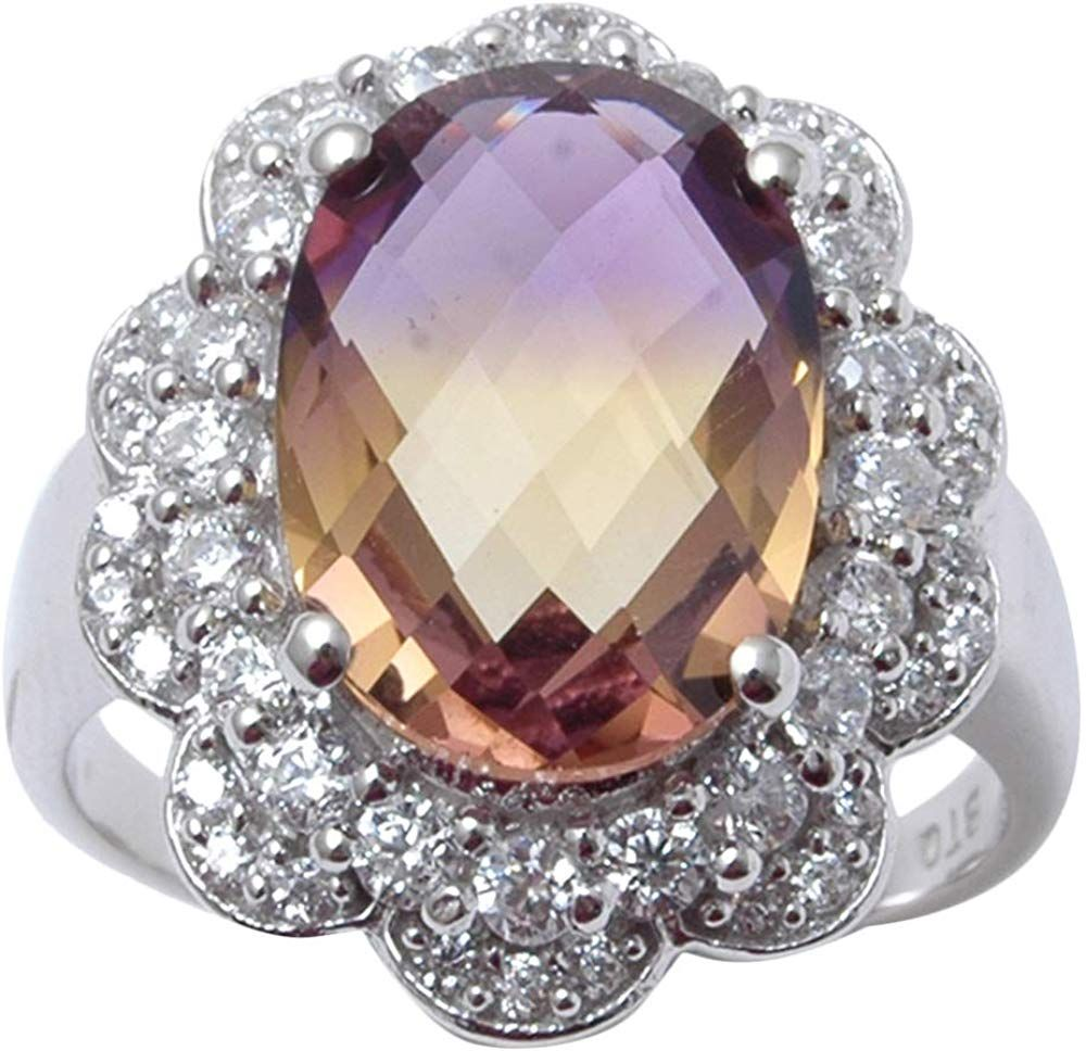 Banithani 9.25 Pure Silver Gorgeous Indian Fashion Blue Topaz Stone Ring Women Jewelry