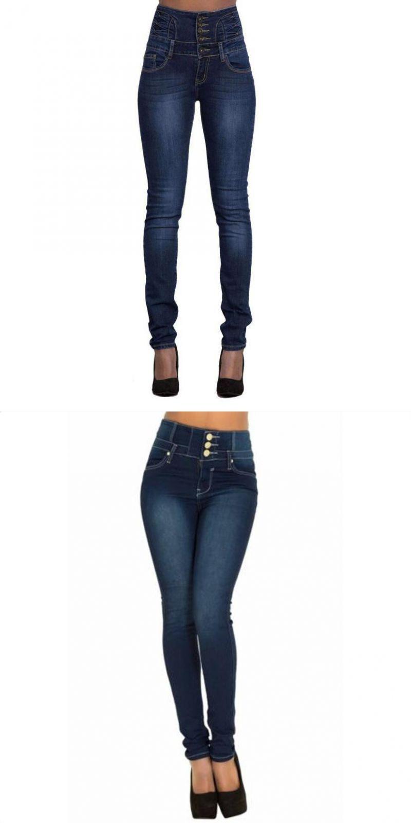 c7346bda3cb8f New coming lovely women ripped high waist slim skinny jeans stretch denim  hot pencil denim pants jeans mujer pantalon femme  cotton  full  length   light ...