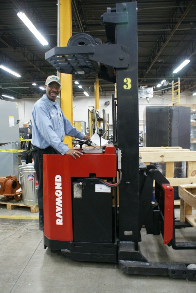 BE's shipping manager thrilled with our new Raymond forklift