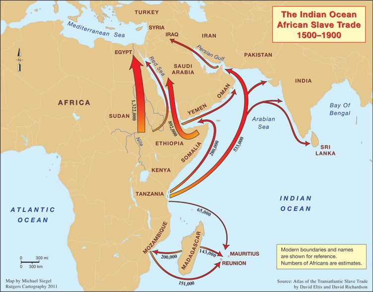 African Slave Trade Routes | The African Diaspora in the Indian ...