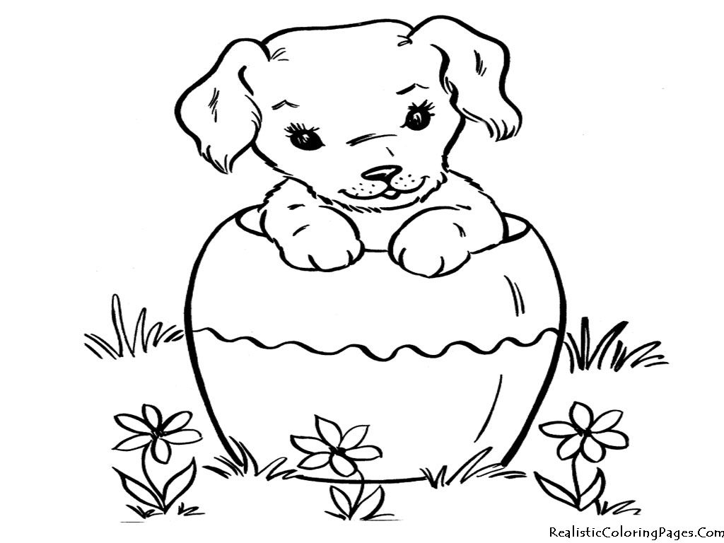 Realistic Coloring Pages Of Dogs | Realistic Coloring Pages Find ...