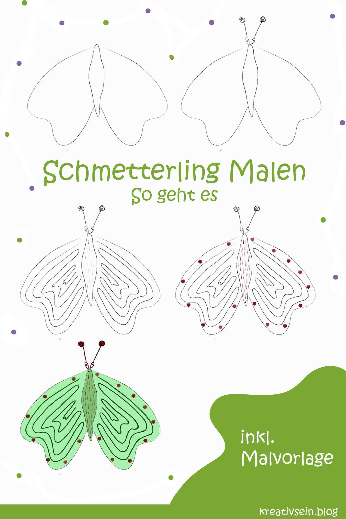 Schmetterling Malen ganz einfach - kreativseinblog