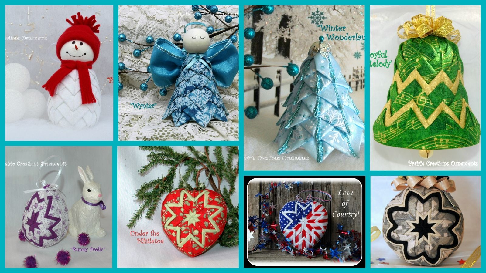Ornament tutorials and e books kits for ornaments for holiday kits for ornaments for holiday decorating and gifts christmas ornaments easter ornaments holiday ornaments no sew fabric ornaments negle Images