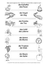 Wörter Zusammensetzen Spiel