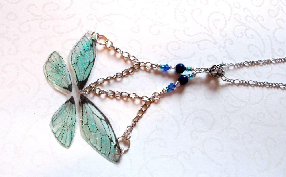 Zauber Feenstaubflügel Ketten Anhänger/Schmetterling Feenflügel 8 Einzelstücke