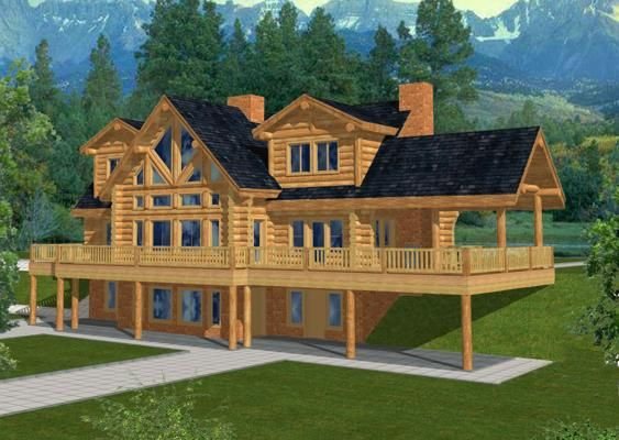 Would Make A Cool Minecraft House Log Home Plan Cute Minecraft Houses Easy Minecraft Houses