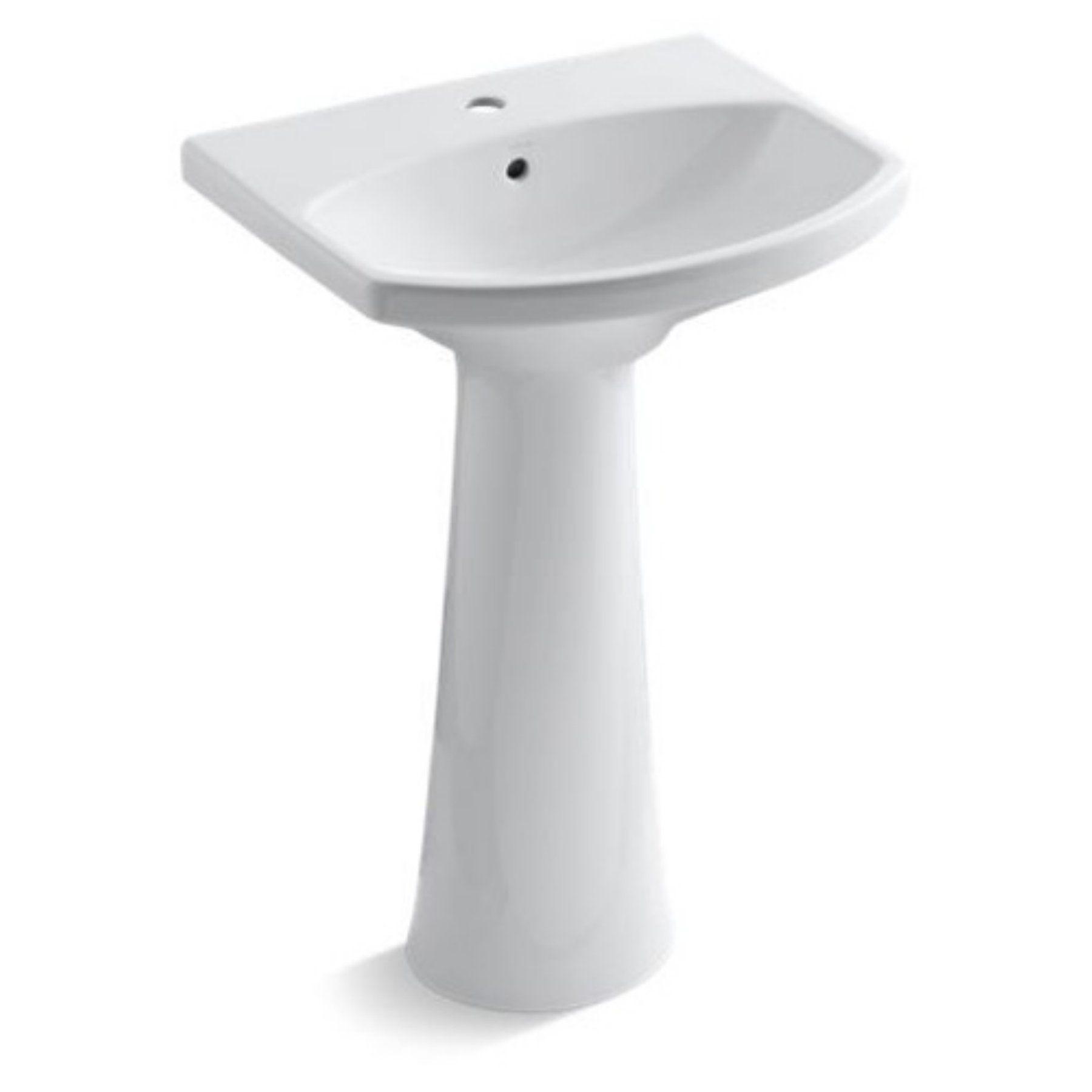 Kohler Cimarron Koh2362 Pedestal Bathroom Sink White Kohler