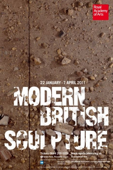 Modern British Sculpture poster by Harry Pearce from @Pentagram Design