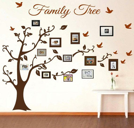 Family Tree Wall Decal Picture Frame Wall Decals Living Room