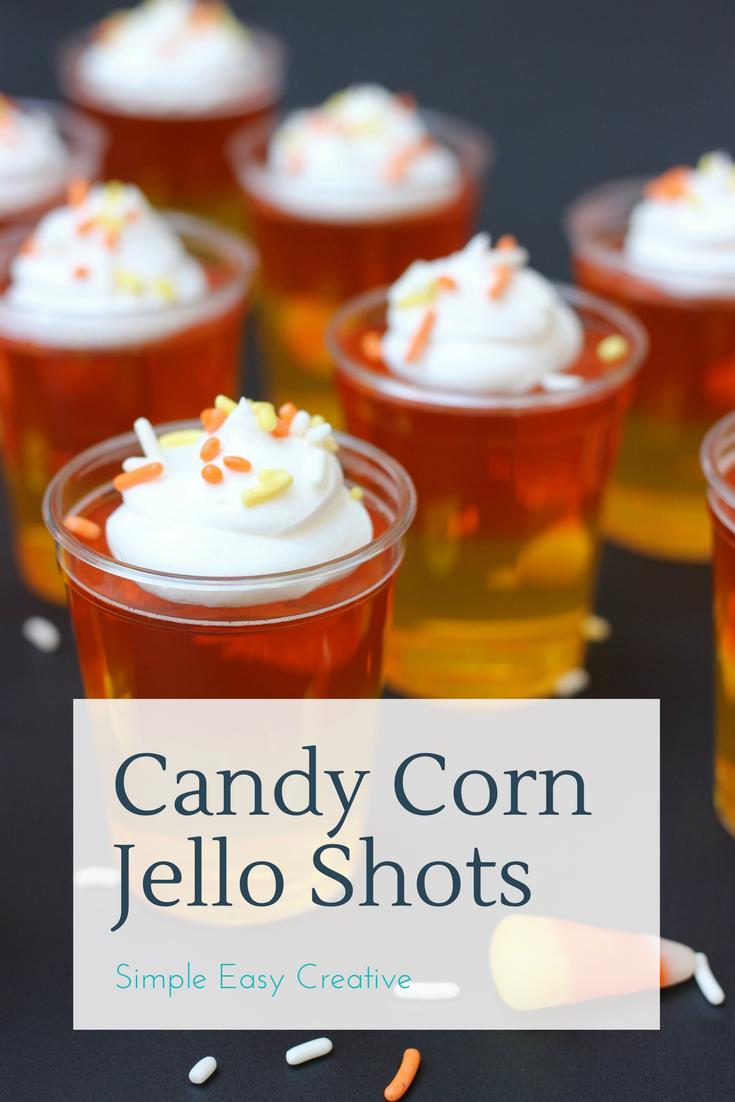 Candy Corn Jello Shots - Hoosier Homemade #jelloshotrecipes