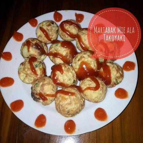 Resep Martabak Mie Ala Takoyaki Oleh Dini Santi Resep Takoyaki Makanan Cemilan