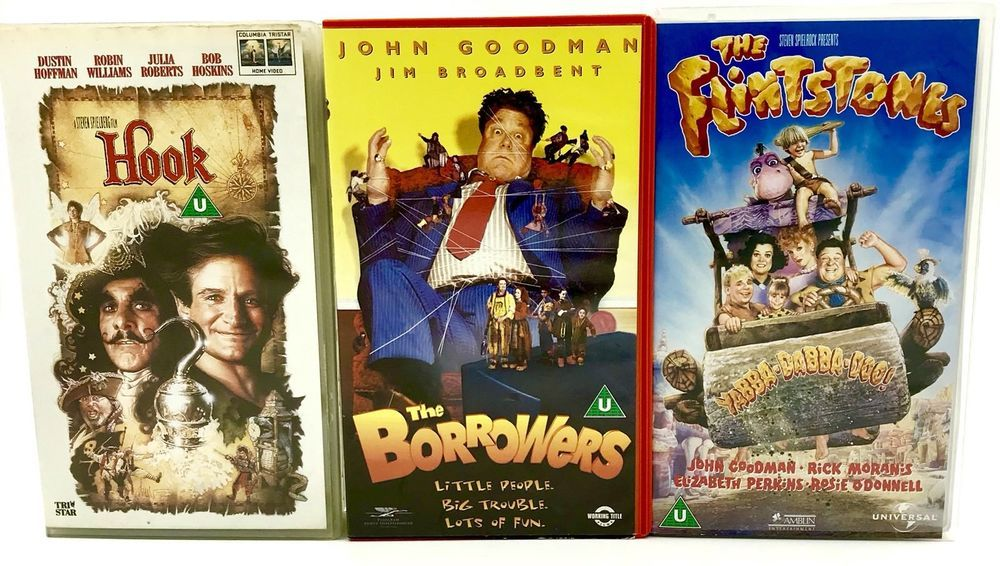 Vhs Video Tape Bundle X3 The Flintstones The Borrows Amp Hook Cert U Kids Family Video Tapes Flintstones Vhs