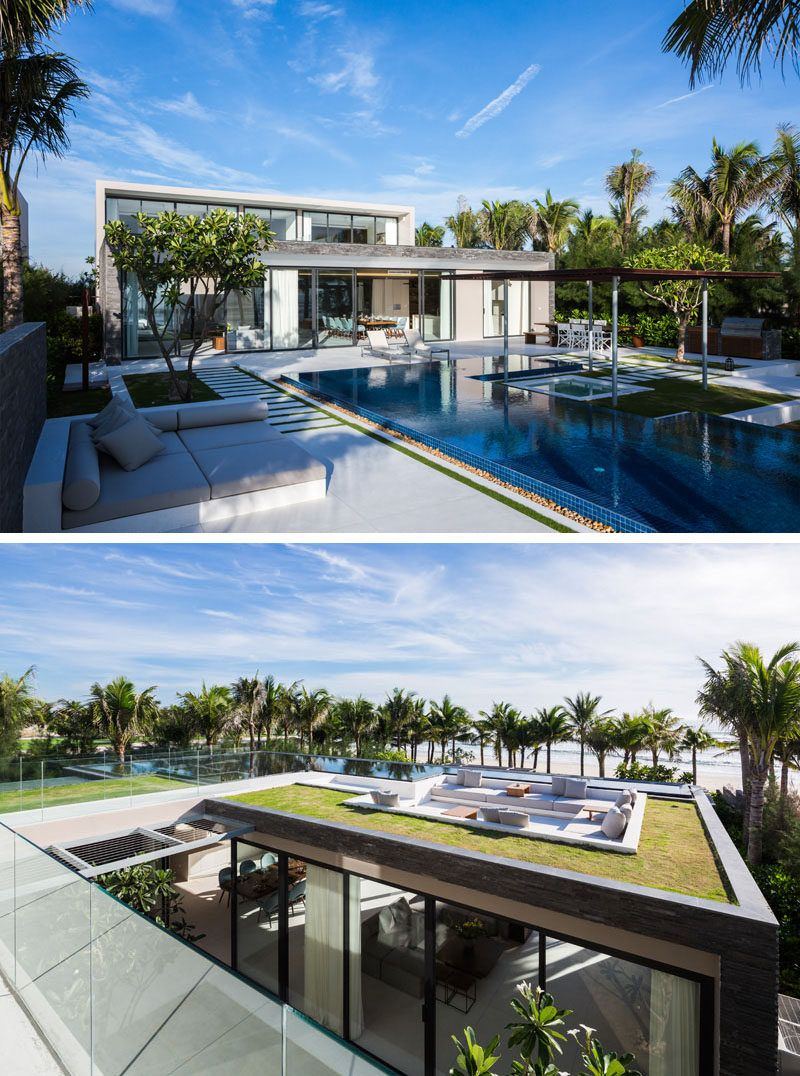 14 Examples Of Modern Beach Houses From Around The World Modern Beach House Contemporary Beach House Beach House Design