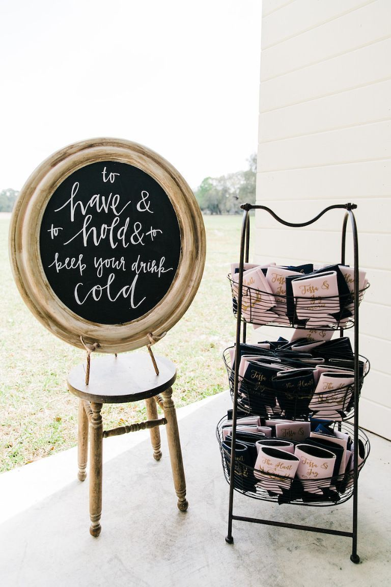 Blush Pink Tampa Bay Barn Wedding Wedding Reception Chalkboard Sign | Rustic, Country Wedding Inspiration | Unique Drink Station Koozie Wedding Favor IdeasSleeve (disambiguation)  A sleeve can be:Elegant Blush Pink Tampa Bay Barn Wedding Wedding Reception Chalkboard Sign | Rustic, Country Wedding Inspiration | Unique Drink Station...