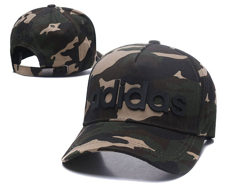 2c5f6468c6 Men s   Women s Adidas BIC Rubber Logo A-Frame Curved Dad Cap - Camo ...