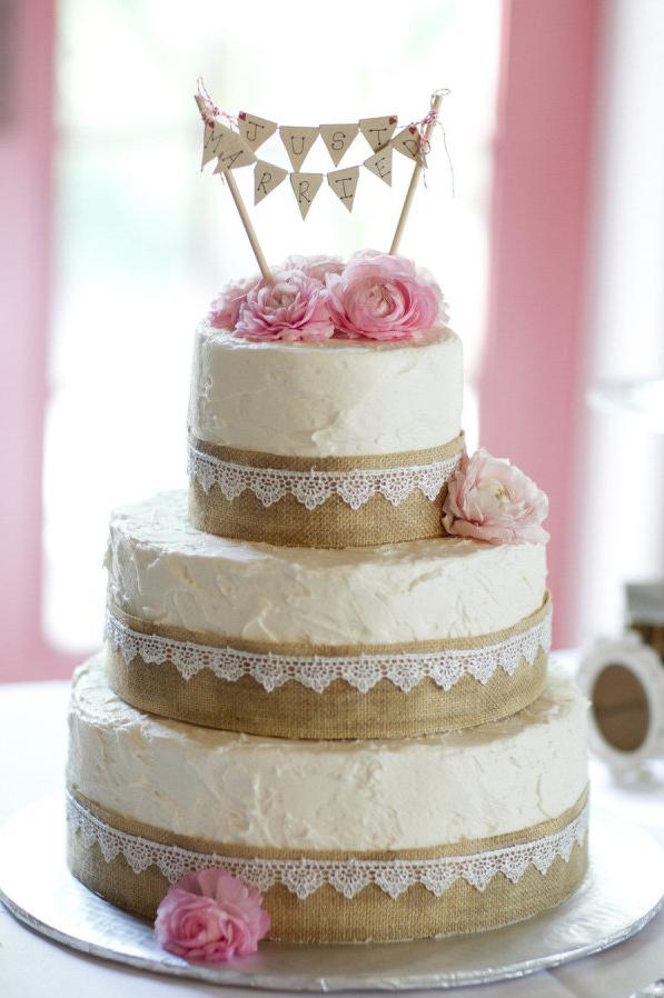 shabby chic bridal shower cakes%0A rusticburlapwhitepinkweddingcake  If we have a