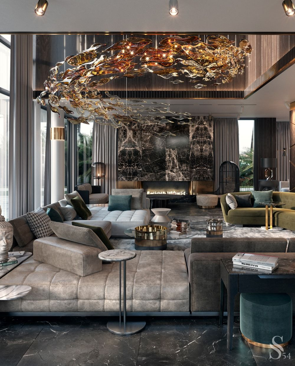 Pin By Jessika Sterling On Modern Penthouse Villa In 2020 Luxury Living Room Design Luxury House Interior Design House Design