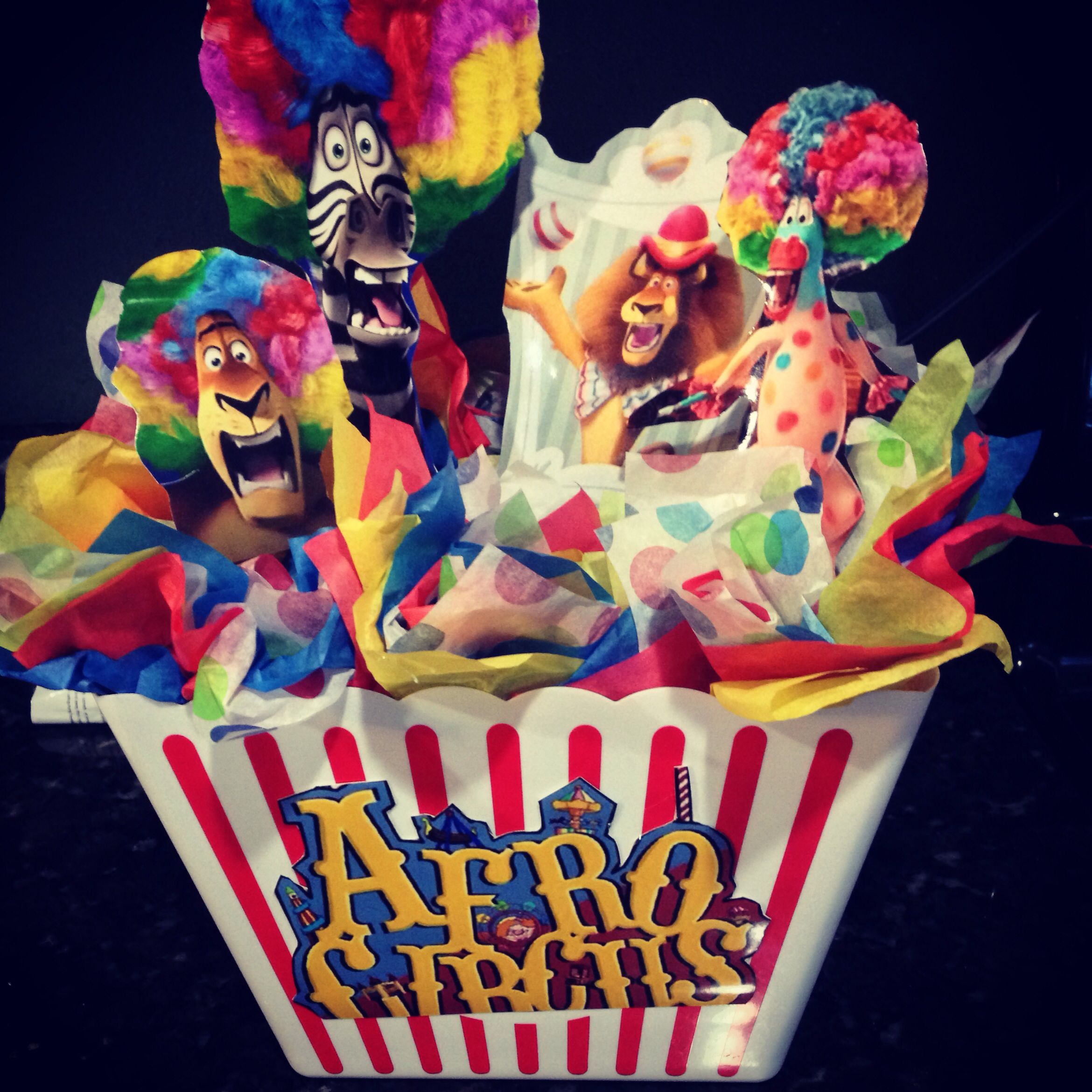 Centerpiece #madagascar3 #circus #decorations