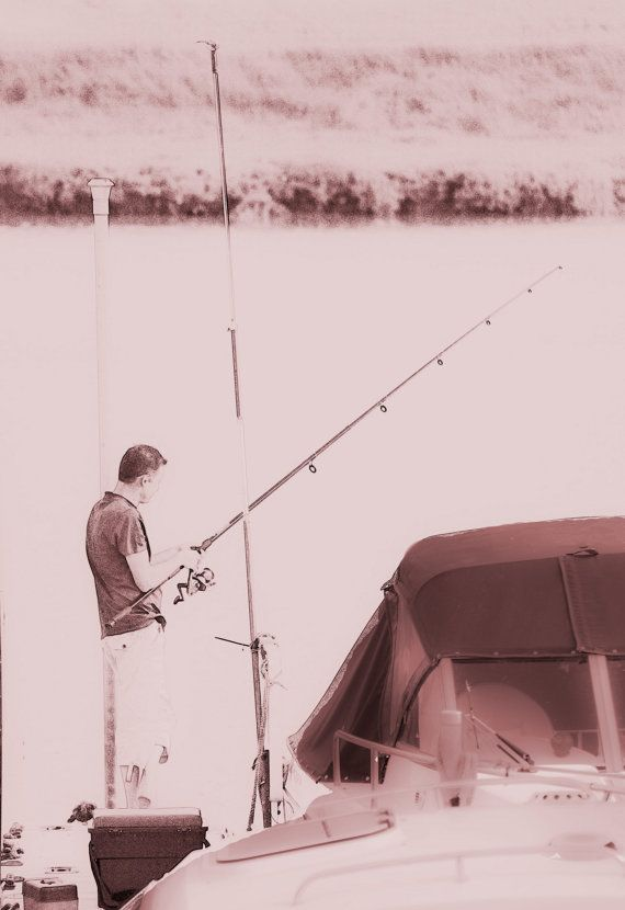 Fishing for Fun in Sepia - Cathy Casey Treasures Photograph