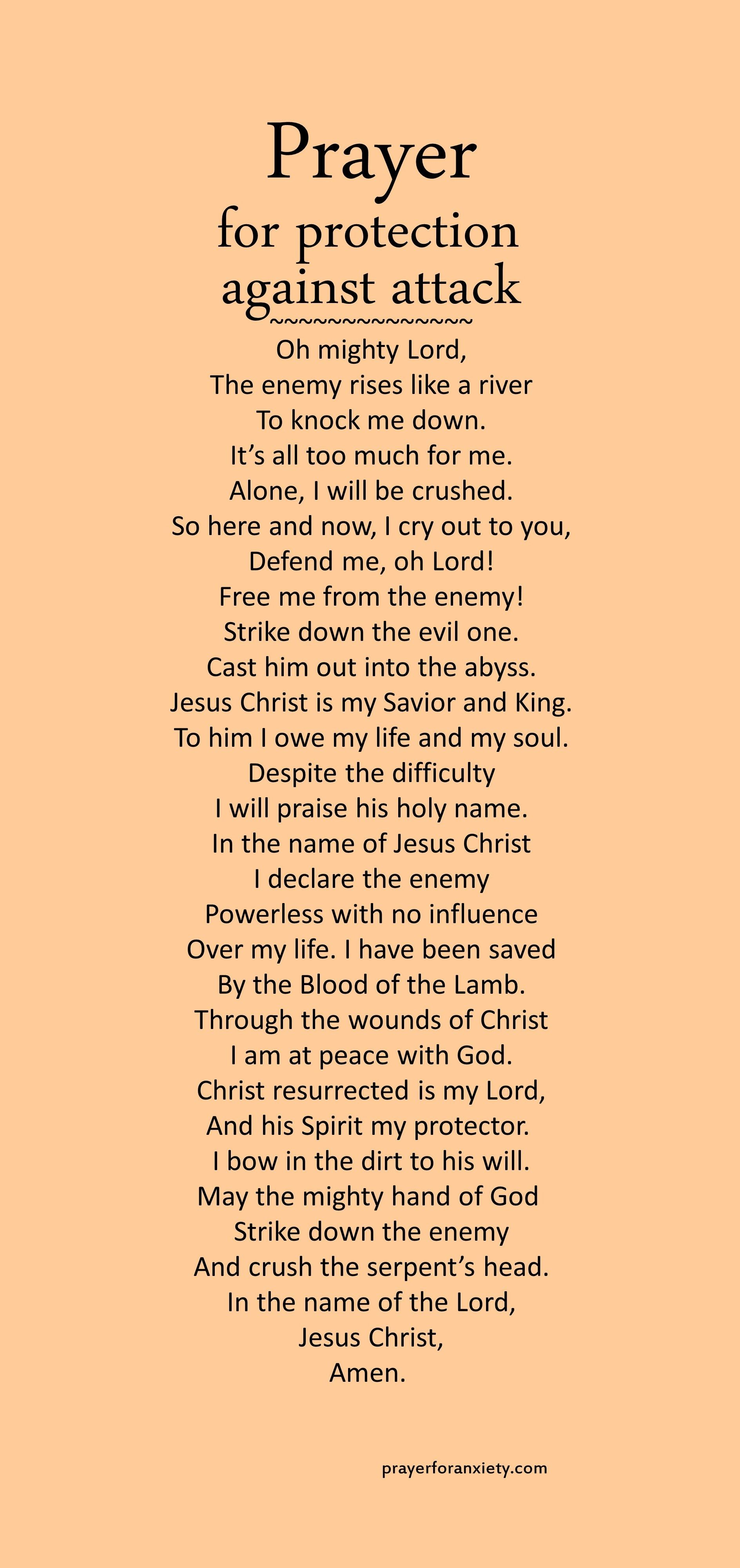 Prayer For Protection Against