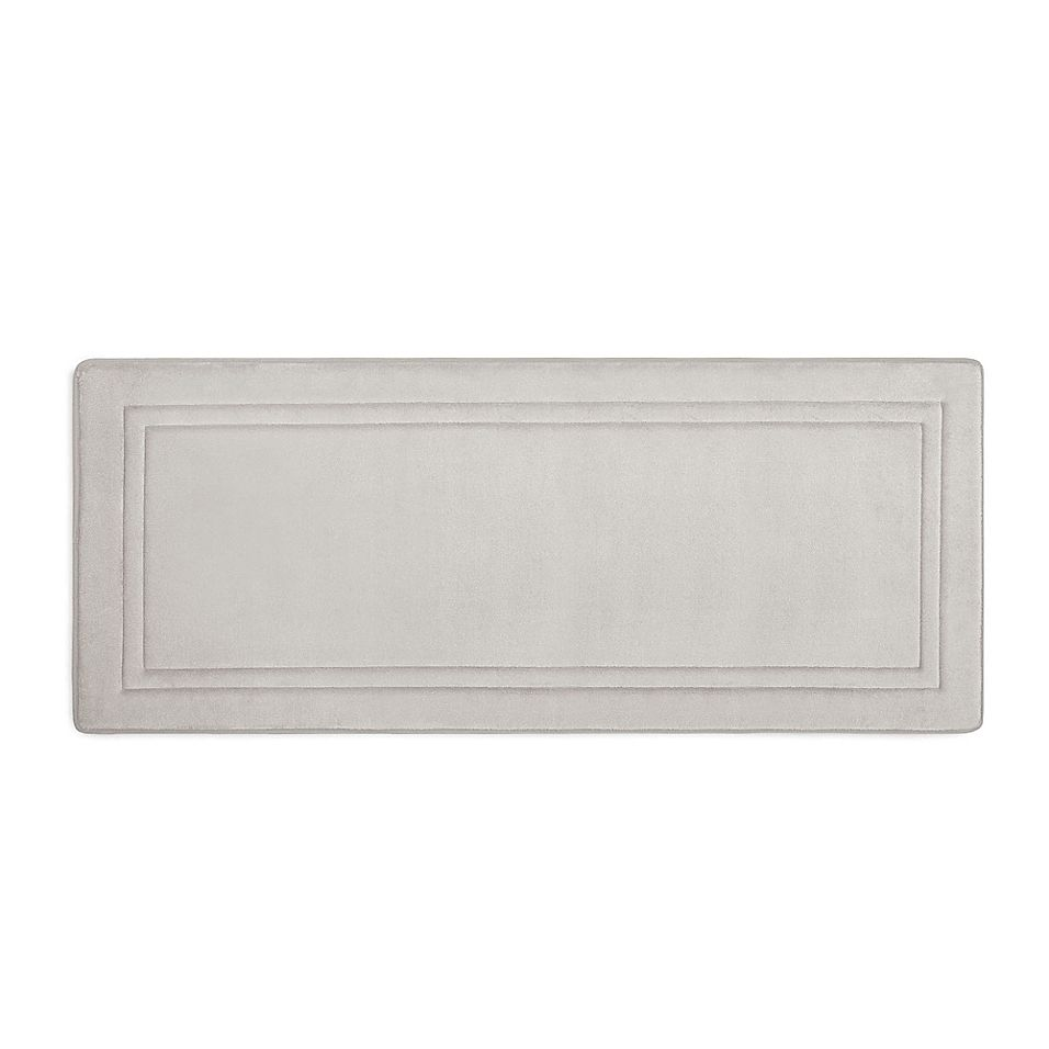Smart Dry 24 X 58 Memory Foam Bath Mat In Chrome Memory Foam
