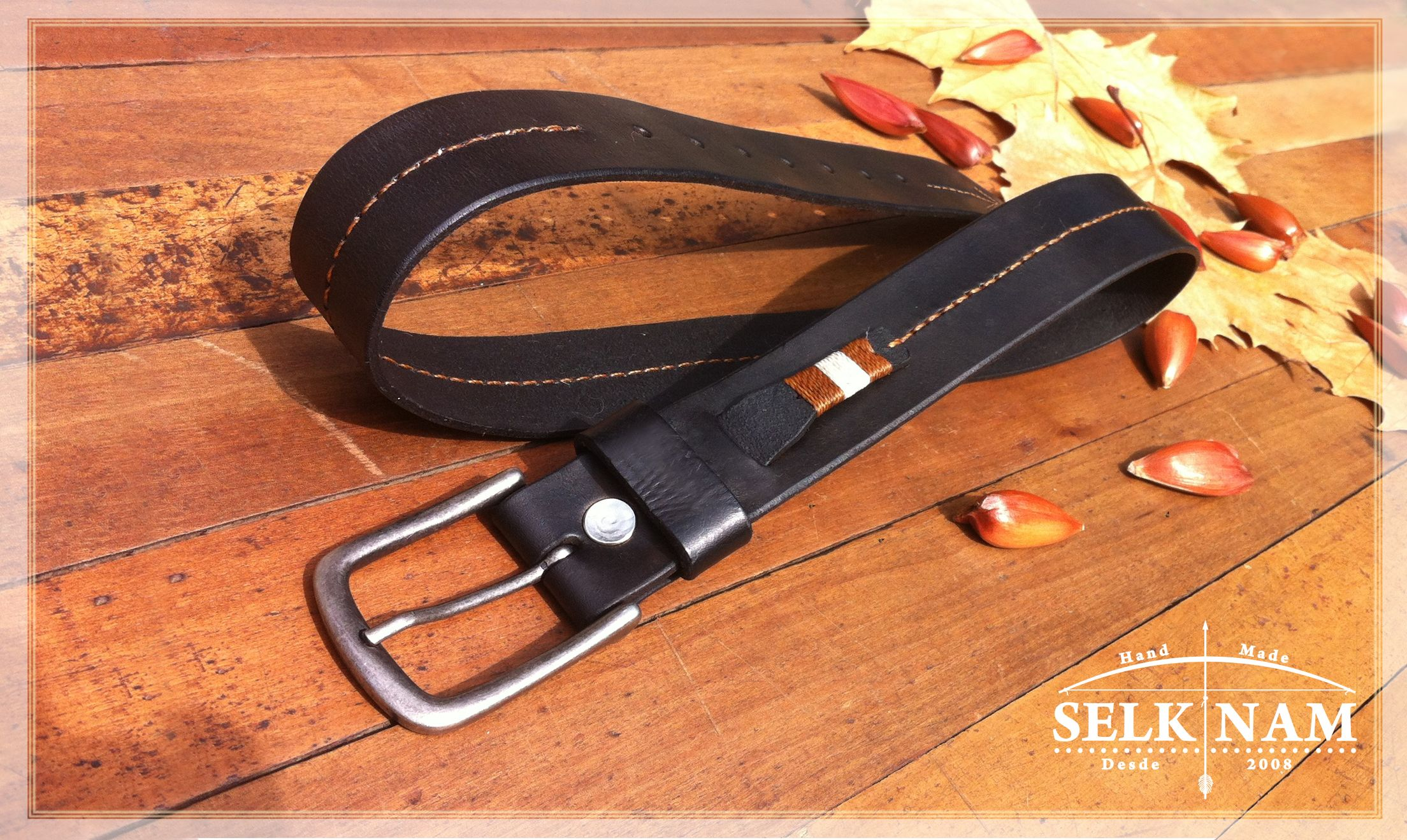 """Cinturón Modelo """"Yagán"""" Fabricado completamente a mano. Para ver mas productos visita nuestra cuenta en Facebook: SelkNam handmade"""