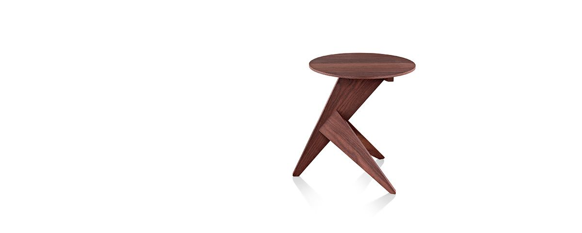 Medici Table - Outdoor Table - Herman Miller Designed to display the natural beauty of its thermo-treated, hand-oiled ash planks, the Medici Table features a round surface cantilevered over an angular, tripod base.