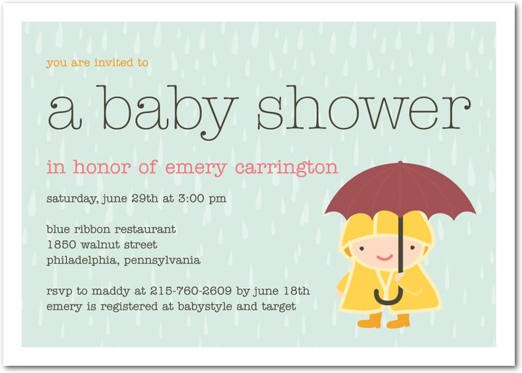 Snapshot Shower invitations and Babies