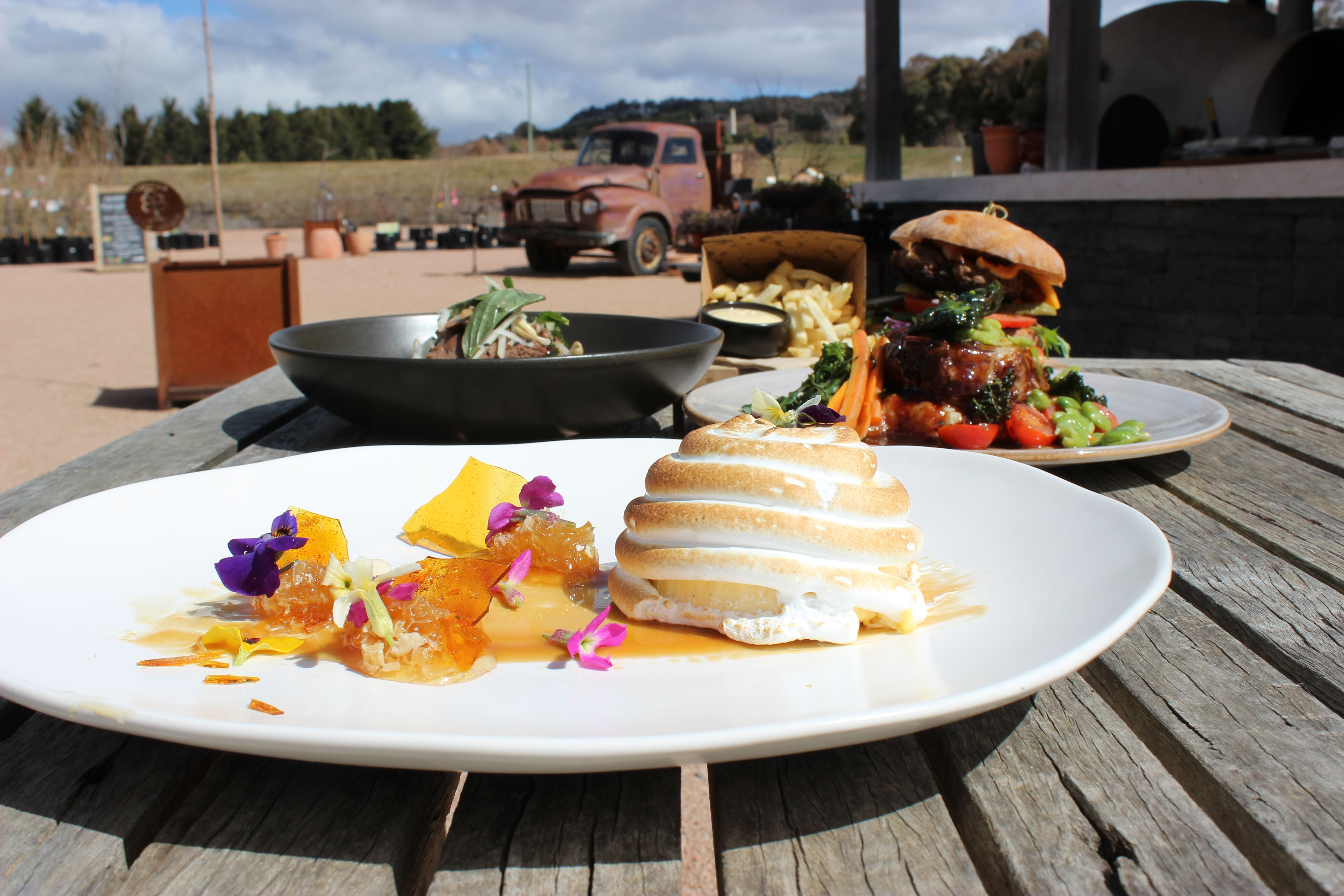 Relax in the sun with a delicious lunch The Mayfield