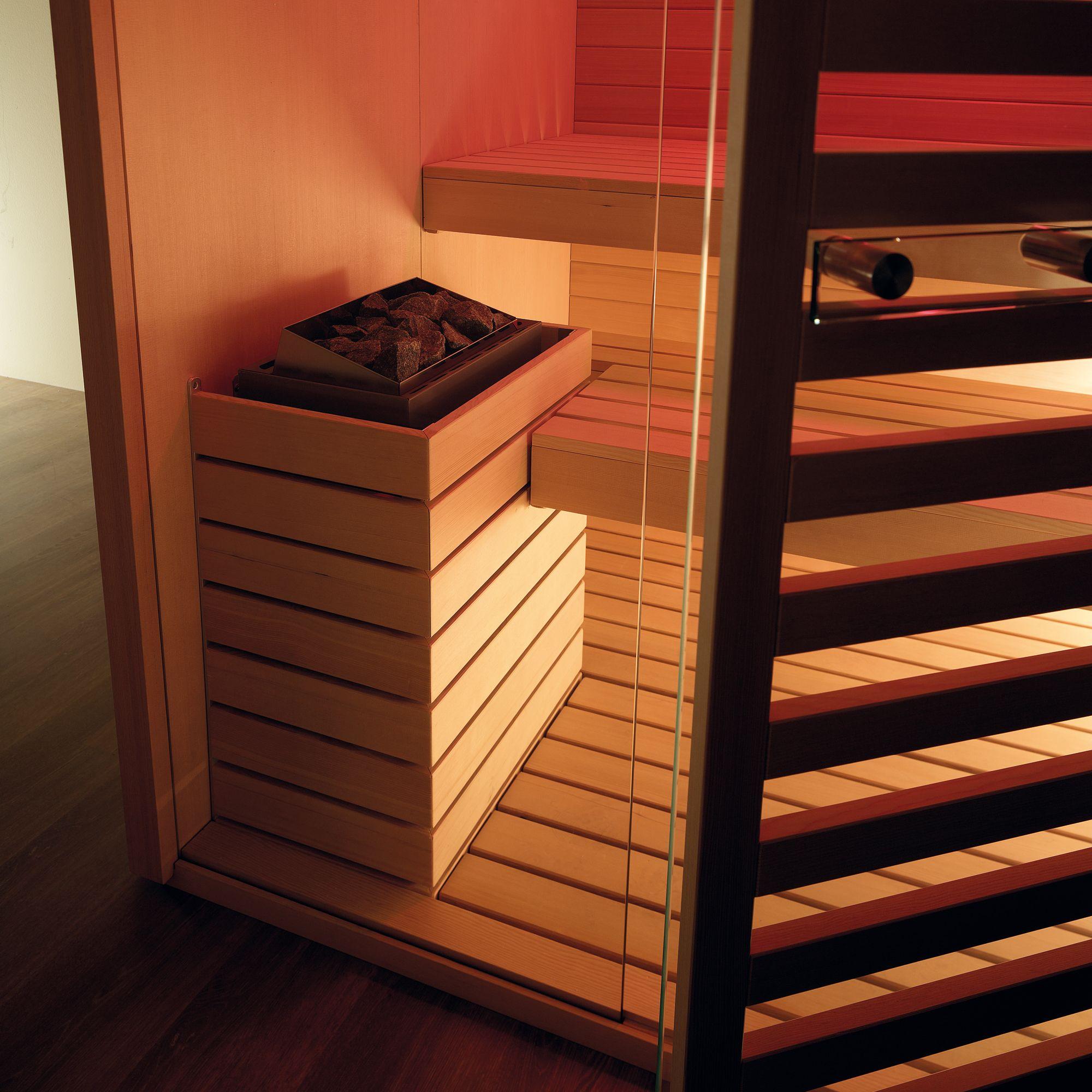 Delightful Sauna SKY TECHNO  Dettaglio Stufa Cromoterapia