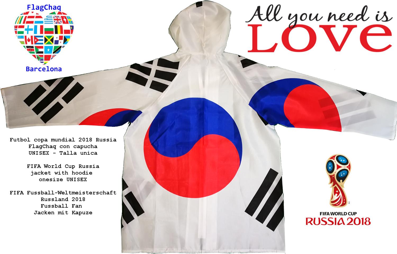 Chaqueta de la bandera Corea del sur Mujer Hombre Talla