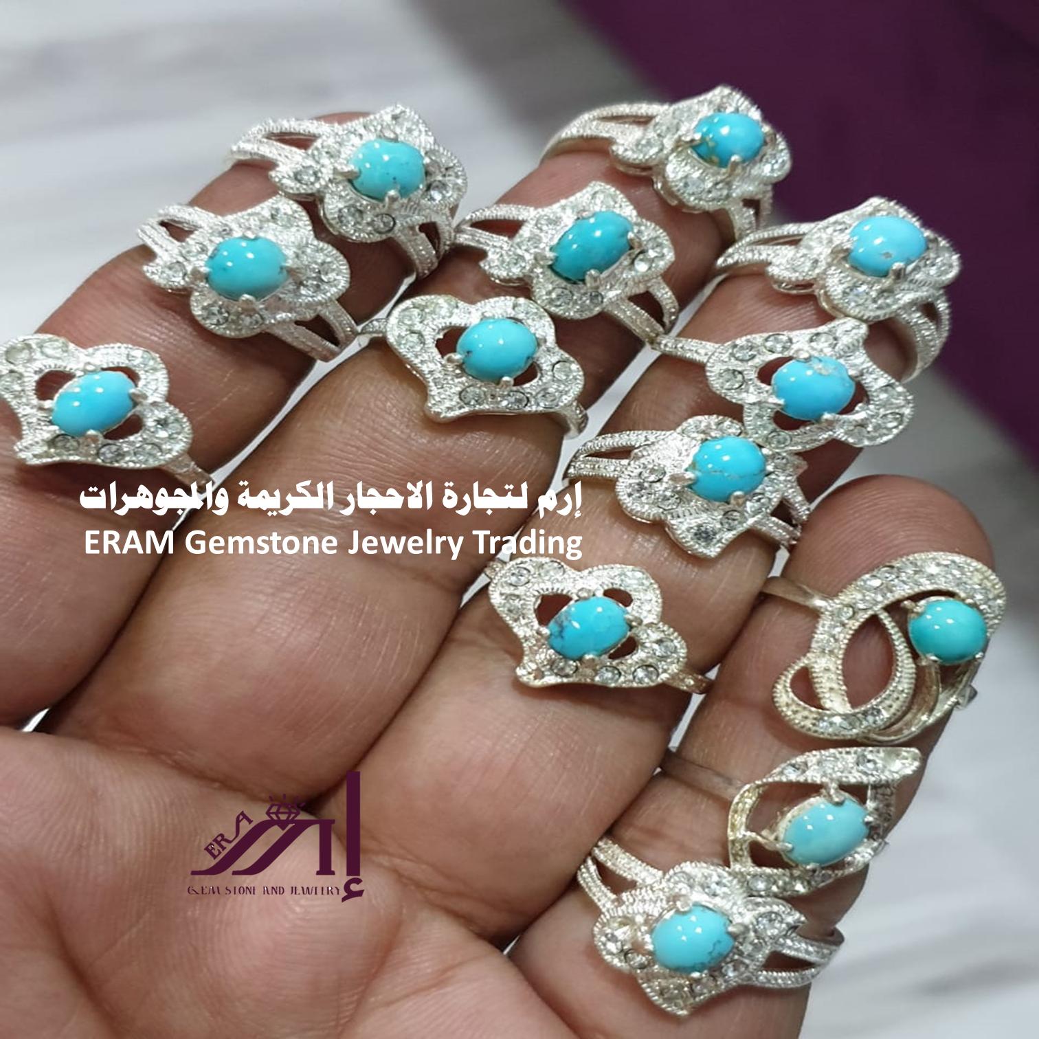 تألقي طيلة اليوم خاتم نسائي ناعم فيروز نيشابوري طبيعي 100 Turquoise مرصع زركون للعرض Pandora Charm Bracelet Pandora Charms Jewelry