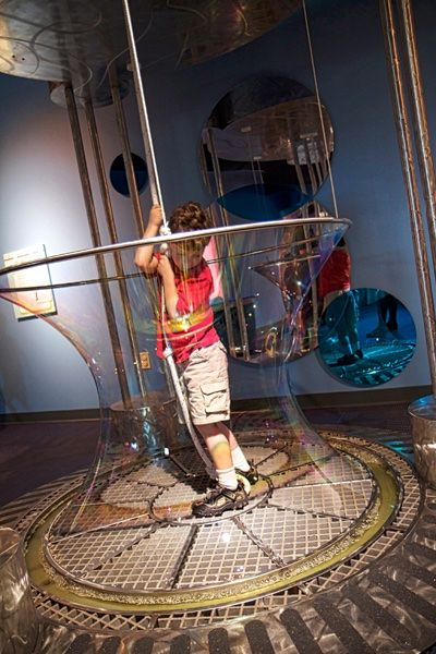 Bubbles: One of our most popular exhibits.