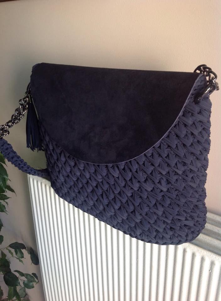 Crochet bag - I like the flap feature.
