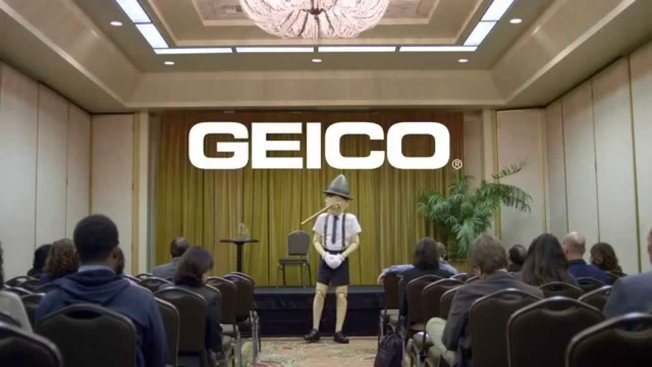 Geico Did You Know Pinocchio Was A Bad Motivational Speaker