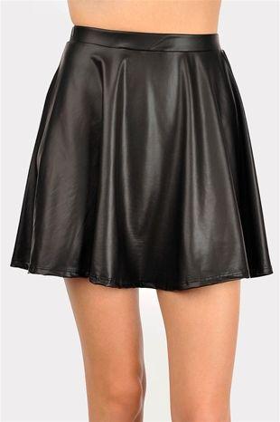 Hi Hater Leather Mini Skirt - Black